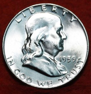 Uncirculated 1959 - D Silver Franklin Half photo