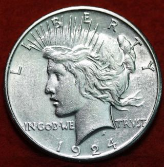 Uncirculated 1924 - S Silver Peace Dollar photo
