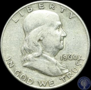 1960 D Silver Franklin Half Dollar Us Coin 5 photo