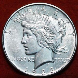 Uncirculated 1923 - D Silver Peace Dollar photo