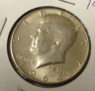 T439 : 1964 - P Unc Silver Kennedy Half Dollar Coin :fairhouse Hq Liberty photo