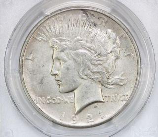 1921 Peace Silver Dollar Au 55 Pcgs (3910) photo