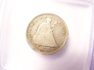 1875 - Cc Twenty Cent Piece Icg 20 Cent Piece Very Rare And Looks Great photo