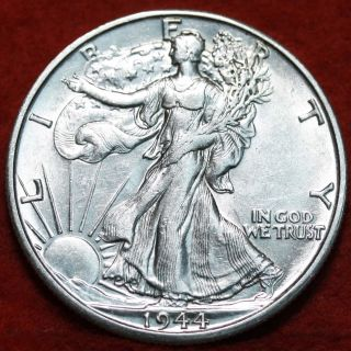 Uncirculated 1944 - D Silver Walking Liberty Half S/h photo