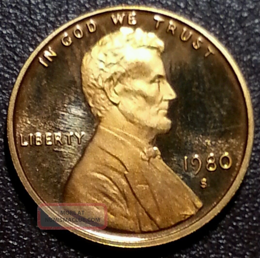 1980 - S Rd Ultra Deep Cameo Xf Small Cents photo