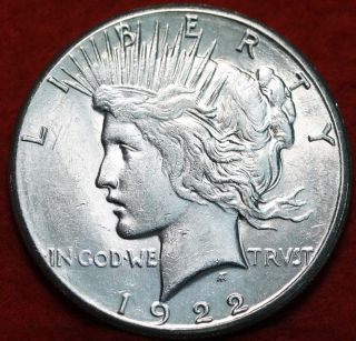 Uncirculated 1922 - S Silver Peace Dollar photo