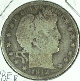 1908 D Barber Half Dollar photo