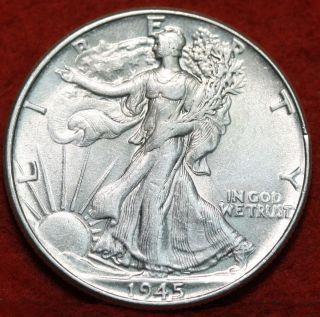 1945 Silver Walking Liberty Half photo