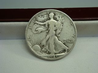 1941 S Walking Liberty Silver Half Dollar Coin photo