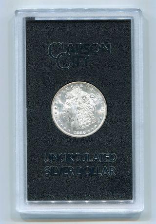 1880 - Cc Reverse Of 1878 Gsa Morgan Carson City Silver Dollar Uncirculated photo