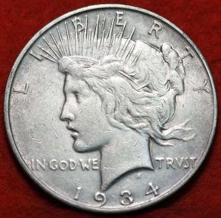 1934 - D Silver Peace Dollar photo