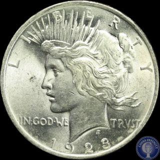 1923 P Choice Uncirculated Silver Peace Dollar C5 photo