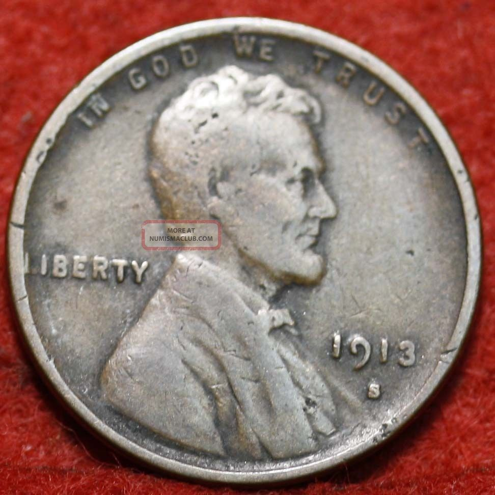 1913 - S Lincoln Wheat Cent Small Cents photo