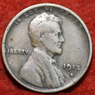 1913 - S Lincoln Wheat Cent photo