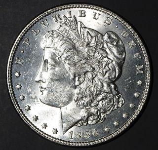 1886 Morgan Silver Dollar Choice Uncirculated (b) photo