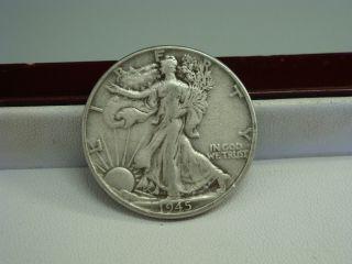 1945 Walking Liberty Silver Half Dollar Coin photo