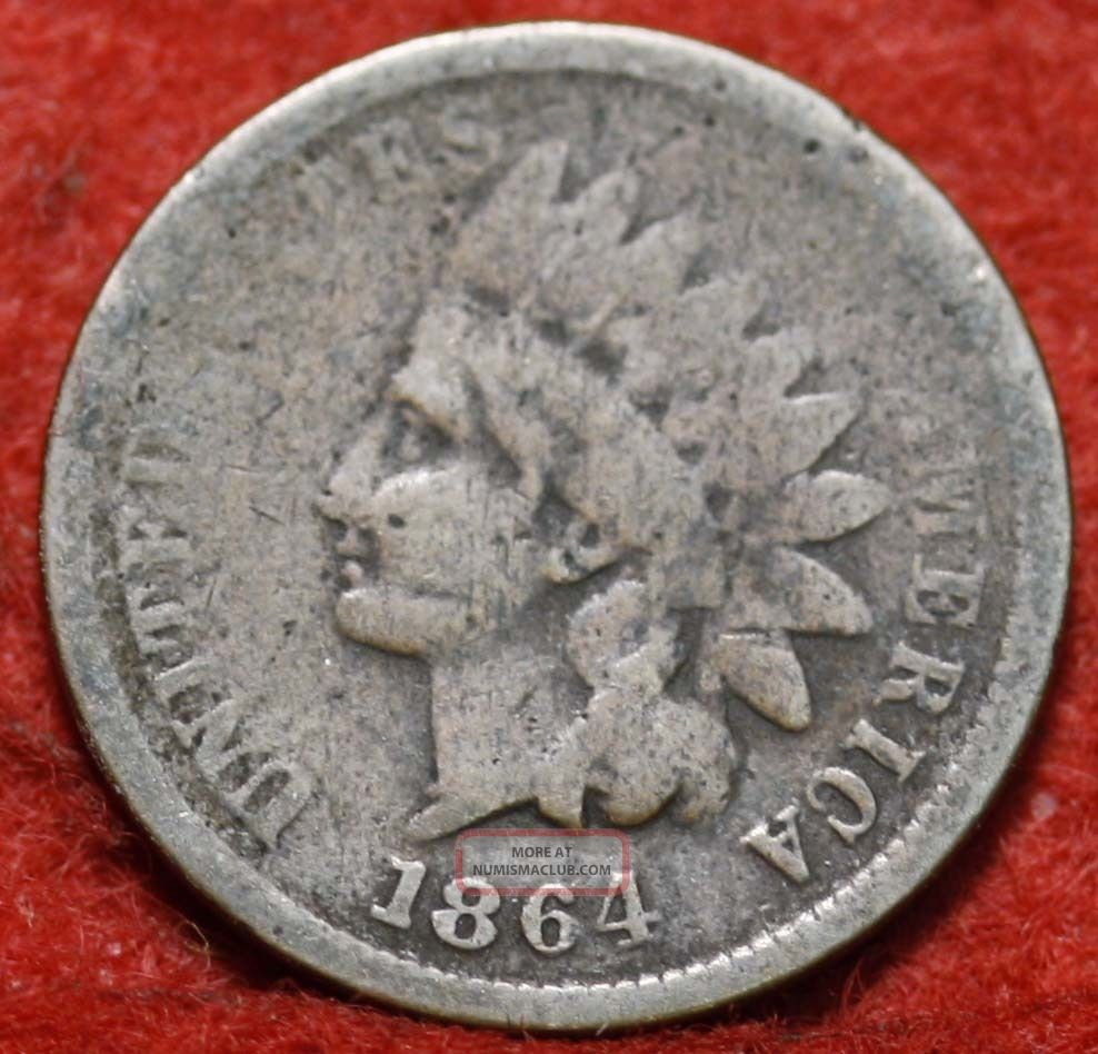 1864 Indian Head Cent Small Cents photo