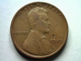 1929 Lincoln Cent Penny Vg+ Very Good+ Cool Lamination Coin photo