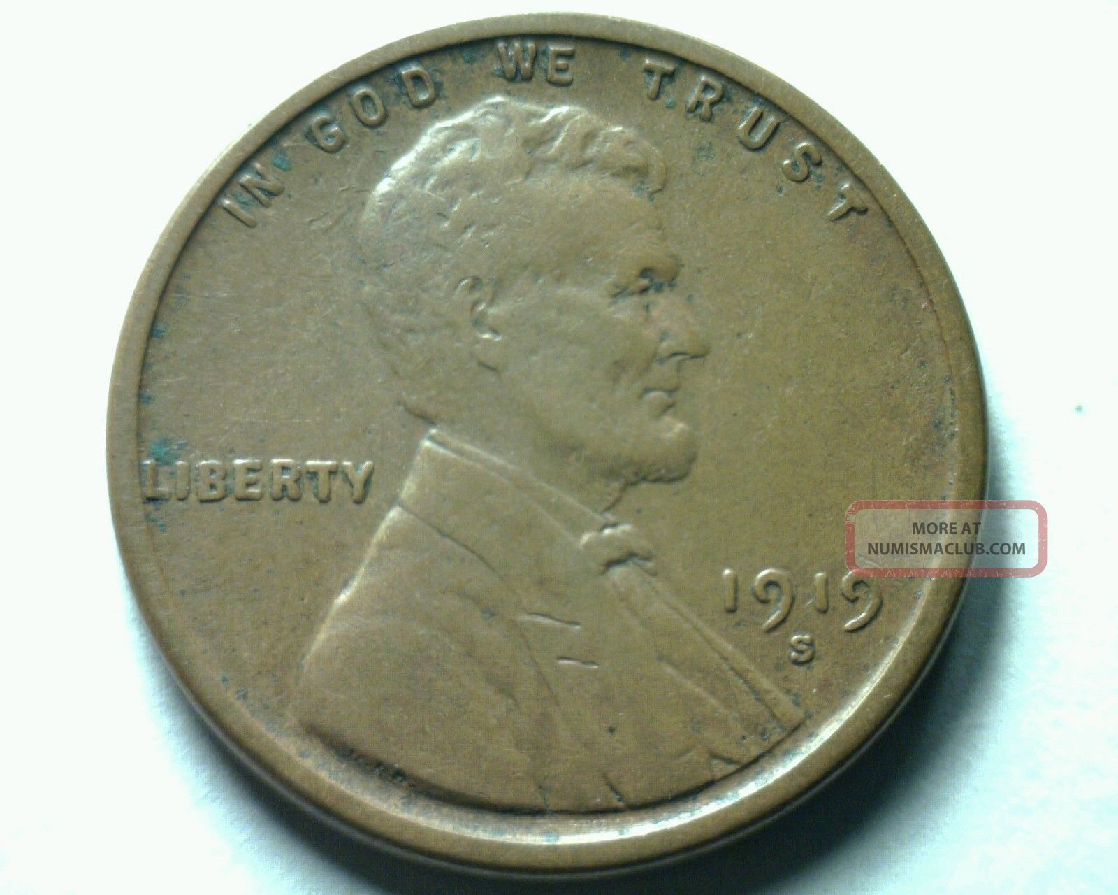 1919 - S Lincoln Cent Penny Extra Fine Xf Extremely Fine Ef Dealer Bid Small Cents photo