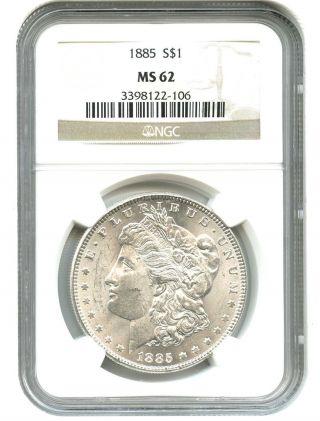 1885 $1 Ngc Ms62 Morgan Silver Dollar photo