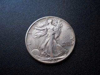 1943 Walking Liberty Half Dollar (very Fine) photo