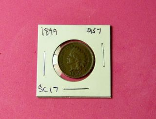1899,  Indian Head Cent. . .  Good Looking Coin Brown Color. . . photo