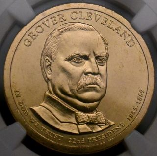 2012 P $1 Grover Cleveland 1st Term Ngc Ms66 photo