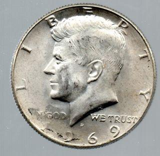 老年silverd_1969 - d silver kennedy half dollar error struck thru grease obv