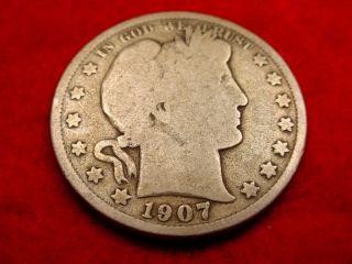 1907 Barber Half Dollar Great Coin 10 photo