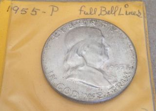 1955 - P Silver Franklin Half - Full Bell Lines photo