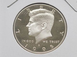 1995 - S Kennedy Half Dollar Dcam Proof 90% Silver U.  S.  Coin C4008l photo