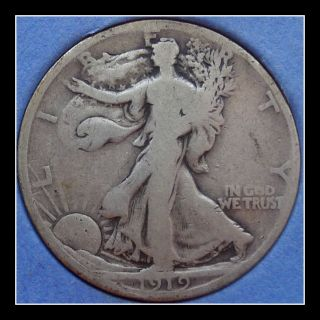 1919 - D Us Walking Liberty Half Dollarf photo