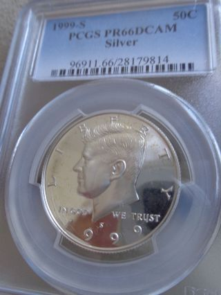 Us Coin,  1999 - S Silver Kennedy 50c,  Pcgs Pr66dcam photo