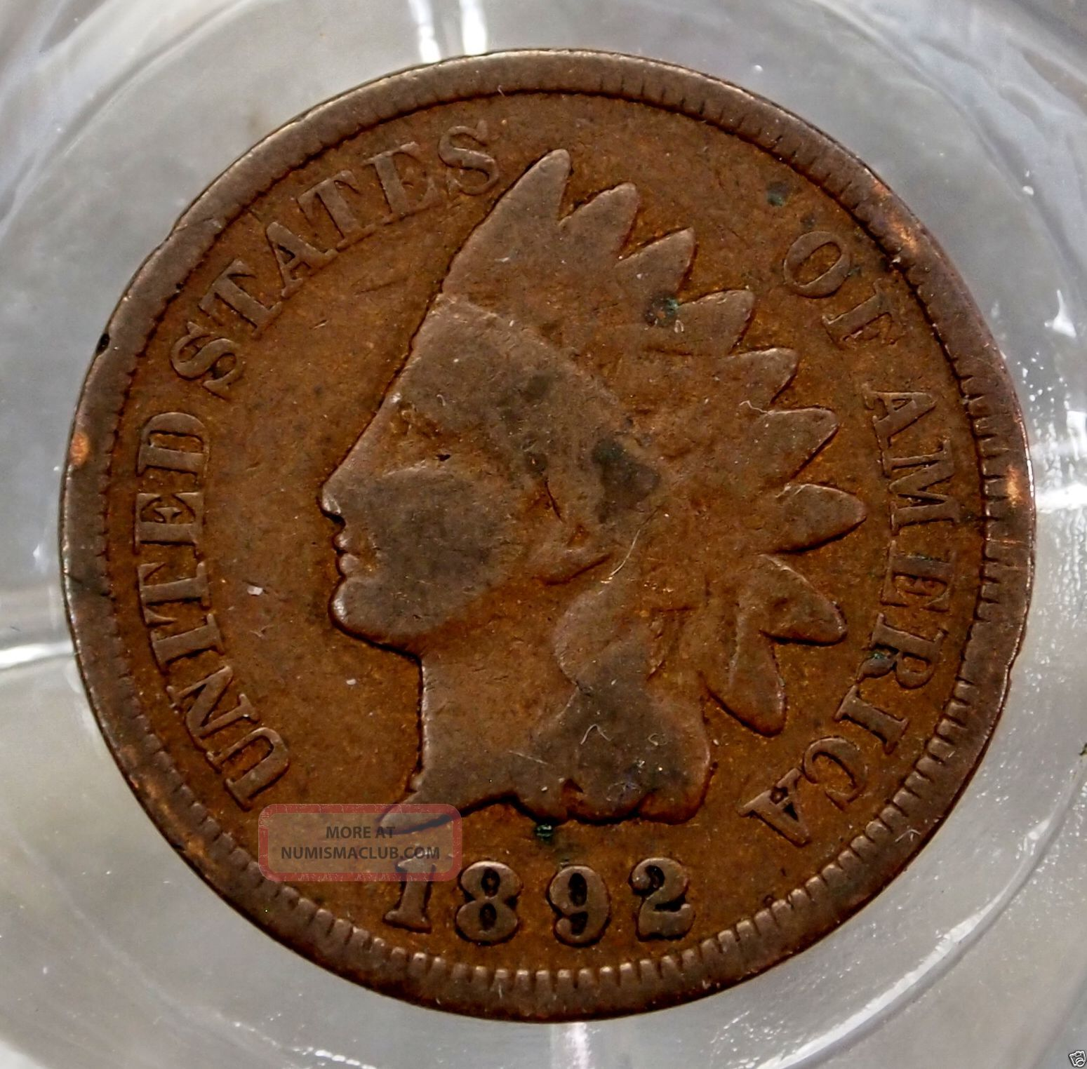 Very Good 1892 - P Indian Head Cent. . . . . .  10155 Small Cents photo