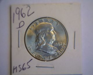 1962 - D Franklin Half Dollar - Choice Bu - Look photo