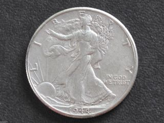 1944 - P Liberty Walking Half Dollar 90% Silver U.  S.  Coin D6503 photo