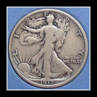 1917 Us Walking Liberty Half Dollar photo