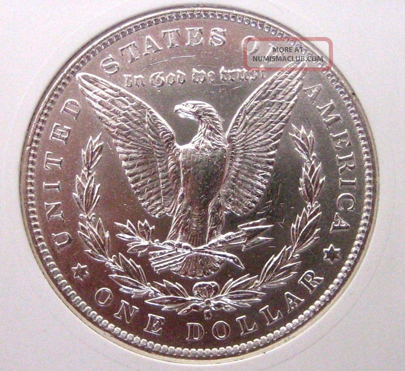 1890 S Morgan Dollar Almost Uncirculated Silver