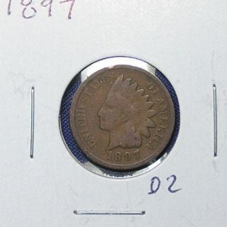 1897 Indian Head Cent - Great Collectible photo