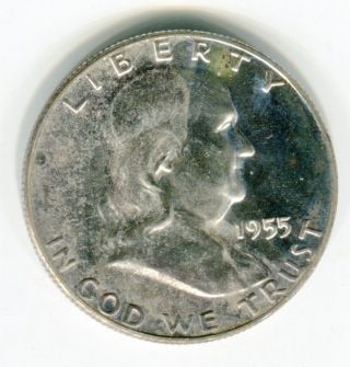 1955 50c Franklin Half Dollar Choice Proof photo