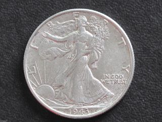 1943 - P Liberty Walking Half Dollar 90% Silver U.  S.  Coin D6525 photo