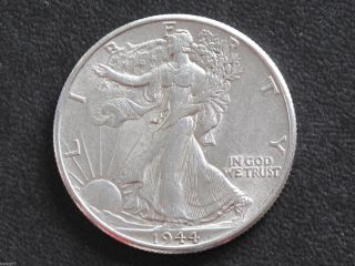 1944 - P Liberty Walking Half Dollar 90% Silver U.  S.  Coin D6509 photo