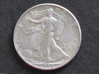 1944 - P Liberty Walking Half Dollar 90% Silver U.  S.  Coin D6517 photo