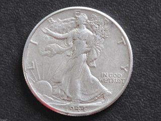 1944 - P Liberty Walking Half Dollar 90% Silver U.  S.  Coin D6523 photo