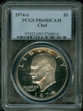 1973 S Clad Eisenhower Dollar Cameo Gem Proof