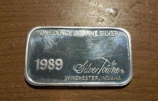 Happy Valentine Day 1 Oz.  Fine Silver Ingot 1989 photo