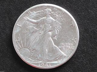1941 - P Liberty Walking Half Dollar 90% Silver U.  S.  Coin D6531 photo