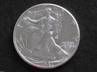 1941 - P Liberty Walking Half Dollar 90% Silver U.  S.  Coin D6542 photo