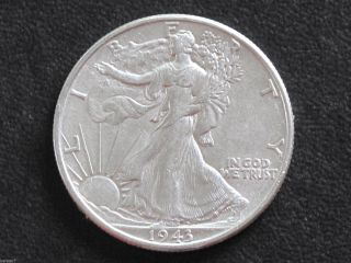 1943 - P Liberty Walking Half Dollar 90% Silver U.  S.  Coin D6529 photo
