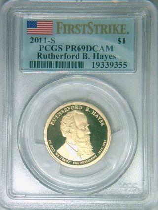 2011 - S Pcgs Pr69dcam Proof R Hayes Dollar First Strike photo